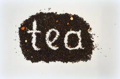 Chá preto com tomilho adicionado imagem de stock