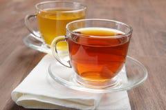 Chá preto e verde fotografia de stock royalty free