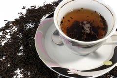 Chá preto em um copo Foto de Stock Royalty Free