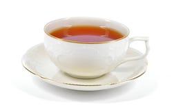 Chá preto em um copo da porcelana. imagens de stock