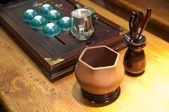 Chá que faz o jogo Foto de Stock Royalty Free