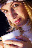 Chá quente bebendo Fotos de Stock