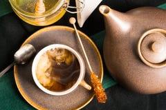 Chá quente com leite Imagem de Stock Royalty Free