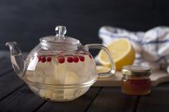 Chá quente do gengibre Fotografia de Stock