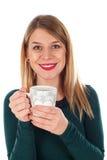 Chá quente em um dia de inverno frio Imagens de Stock Royalty Free