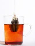 Chá quente por uma linha Imagens de Stock
