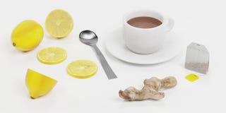Chá saudável ilustração royalty free