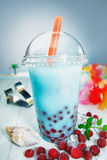 Chá saudável colorido do boba ou da bolha fotografia de stock royalty free