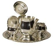 Chá-serviço metálico Fotos de Stock