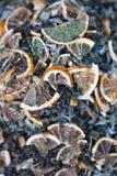 Chá verde com ervas imagem de stock