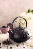 Chá verde com flor mais velha Imagens de Stock Royalty Free