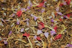 Chá verde com flores Foto de Stock
