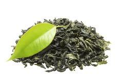 Chá verde com folha foto de stock royalty free