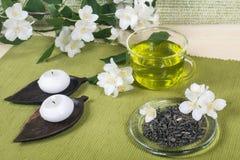 Chá verde com jasmim Fotografia de Stock