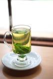 Chá verde da hortelã fotografia de stock royalty free