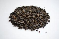 Chá verde da pólvora chinesa imagens de stock