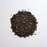 Chá verde da pólvora chinesa foto de stock