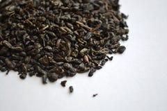 Chá verde da pólvora chinesa fotografia de stock