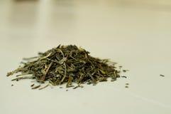 Chá verde de folha solta Fotografia de Stock Royalty Free