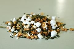Chá verde de Genmaicha da folha solta Fotografia de Stock