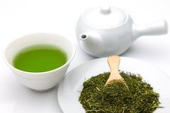 Chá verde de Jananese Fotos de Stock
