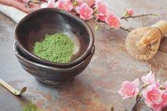 Chá verde de Matcha fotografia de stock