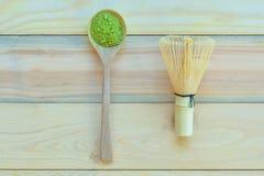 Chá verde de Matcha Fotos de Stock