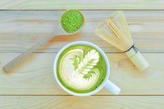 Chá verde de Matcha e latte do matcha Fotografia de Stock