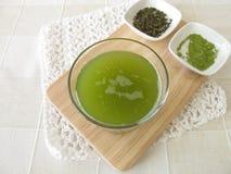 Chá verde de Sencha com matcha Imagens de Stock