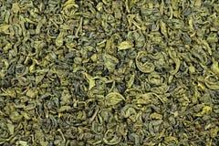 Chá verde derramado Fotografia de Stock