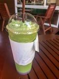 Chá verde do leite dos batidos Foto de Stock