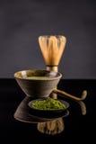 Chá verde do matcha imagens de stock