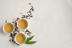 Chá verde do oolong imagens de stock