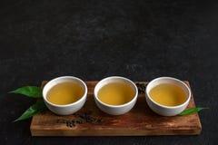 Chá verde do oolong fotografia de stock