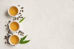 Chá verde do oolong foto de stock