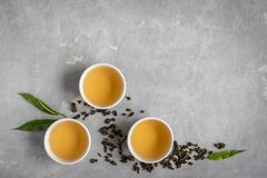 Chá verde do oolong fotos de stock