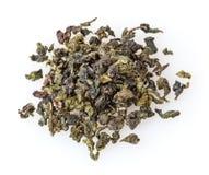 Chá verde do oolong isolado no branco Imagem de Stock