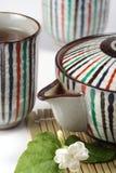 Chá verde, flor do jasmim Imagens de Stock Royalty Free