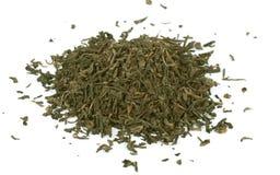 Chá verde, folha solta, isolada fotografia de stock