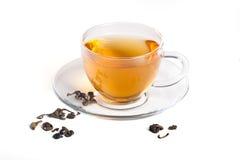 Chá verde no copo transparente Imagens de Stock
