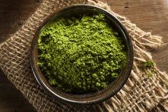 Chá verde orgânico cru de Matcha imagem de stock royalty free