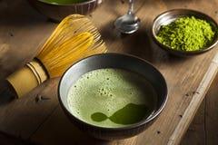 Chá verde orgânico de Matcha fotografia de stock