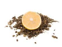Chá verde seco imagem de stock