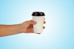 Chávena de café à disposicão Fotografia de Stock