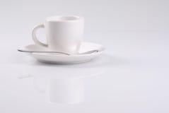 Chávena de café branca Foto de Stock Royalty Free