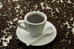 Chávena de café branca Fotos de Stock