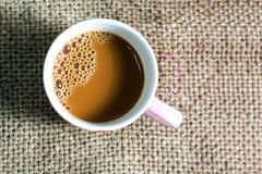 Chávena de café branca fotografia de stock