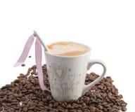 Chávena de café brilhante Imagem de Stock Royalty Free