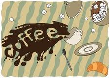 Chávena de café caída ilustração stock