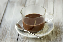 Chávena de café com colher Foto de Stock
